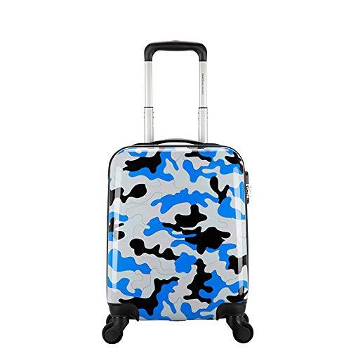 HWYP Kinderjongen camouflage trolley geval, 16-inch koffer, vrouwelijke ouder-kind reizen, schattige koffer stijlnaam size 1 exemplaar