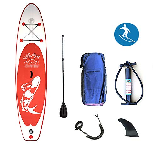 DODOBD Hinchable Tabla de Paddle Surf Inflable Tabla de paddletabla de Aleta, Tabla de Paddle Profesional para Adultos Tabla de Surf de pie Tabla de Paddle Sup Sup 320 * 76 * 15 cm