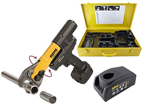 Rems Akku Radialpresse Mini-Press Acc Basic Pack (Schubkraft 22 kN, Pressmaschine mit Stahlkasten, automatischer Rücklauf, kompakte Bauform) 578012 R220