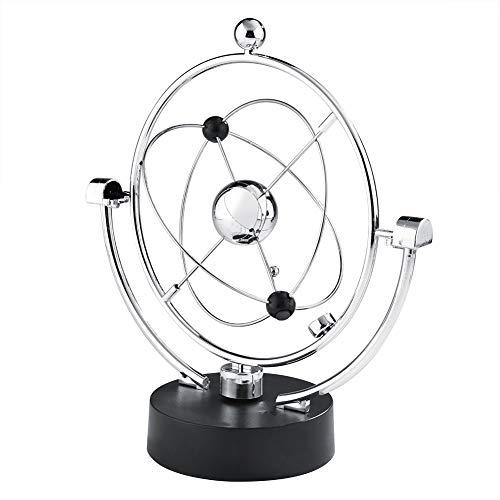Wiggler eléctrico Bola de columpio Artesanía cinética Movimiento de movimiento perpetuo Newtons Balance Ball Juguetes Astilla Hogar Oficina Escritorio Decoración de mesa (4.33 x 9.65 pulgadas)(A603)