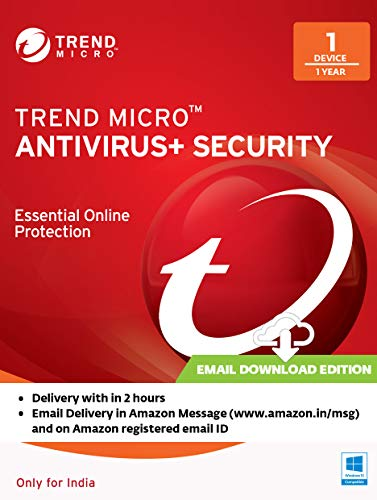 Trend Micro Antivirus + Security Latest Version (Windows) - 1 User, 1 Year (Email Delivery in 2 Hours - No CD)