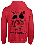 Pop Team Epic You are Not My Friend Hoodie Coat Cosplay (Red, XL)