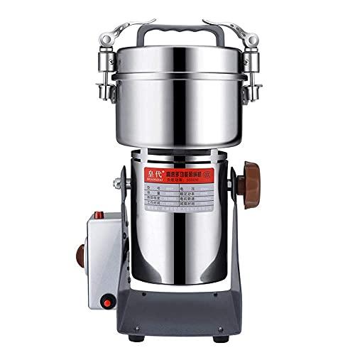 Trituradora de Granos Molino superfino de Grado alimenticio Máquina eléctrica de Polvo de Acero Inoxidable Molino de Grano Utilizado para el hogar del Hospital Laboratorio Herbal Spice Café Grano Mol