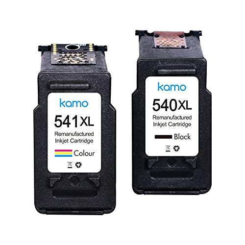 Kamo 540 541 - Cartuchos de tinta compatibles con Canon PG-540 CL-541 XL para Pixma MG2150 MG2250 MG3150 MG3250 MG3550 MG3650 MG3650s MG4150 MG4250 MX375 5 MX47. 5 MX535 TS5150 TS5151.