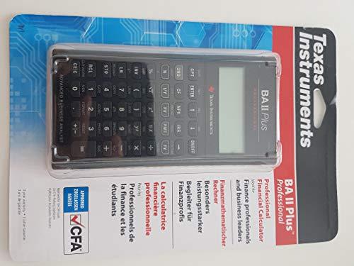 Texas BA II Plus Professional Financial Calculator - Black