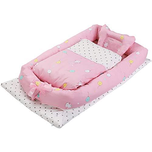 Ledikantbed Kinderbed 0-3 Jaar Oude Mini Reizen Draagbare Anti-Druk Baby Slaap Bionische Bedwieg 90 * 50 * 15cm-Balloon Rabbit
