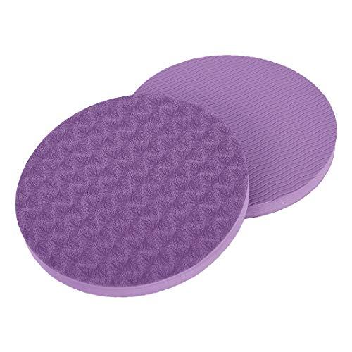 KSS - Cuscinetto di protezione ecologico per allenamento yoga, per ginocchia/polsi/gomiti, confezione da 2, Purple