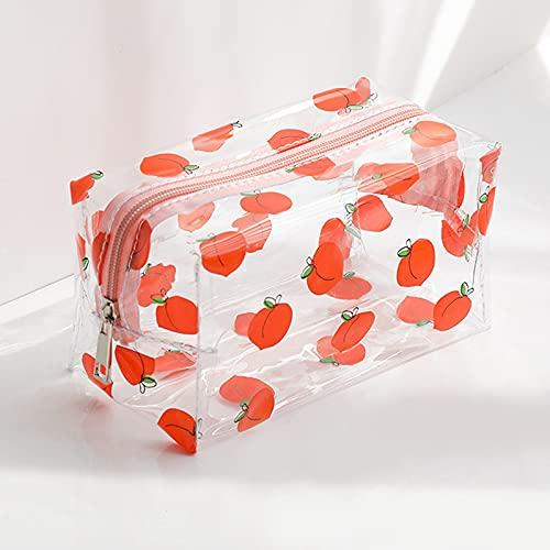 SYXX Caja de almacenaje Bolsas de cosméticos multifuncionales Linda Impermeable Impermeable Transparente Bolsa de Almacenamiento PVC Zipper Maquillaje de Viaje Organizador Case Claro Bolso de Aseo