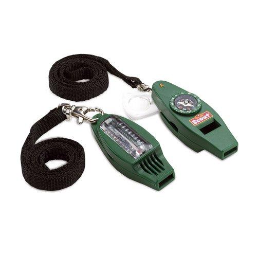 Happy People 175-8830 - Scout Signalpfeife mit ausklappbarer Lupe, Kompass, Thermometer und Licht