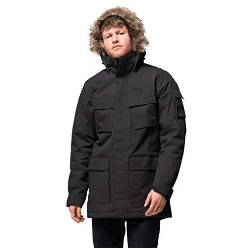 Jack Wolfskin Herren warme Winterjacke, schwarz (schwarz), S