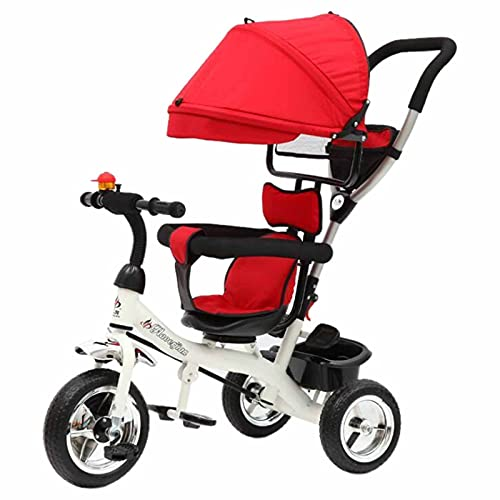 Talenters 2-in-1Baby Stroller, Baby Ride-On Tricycle, Toddler Trike Stroller Push Along Trike Design with Safe and Secure for Ages 15 Months, UK in Stock, Red