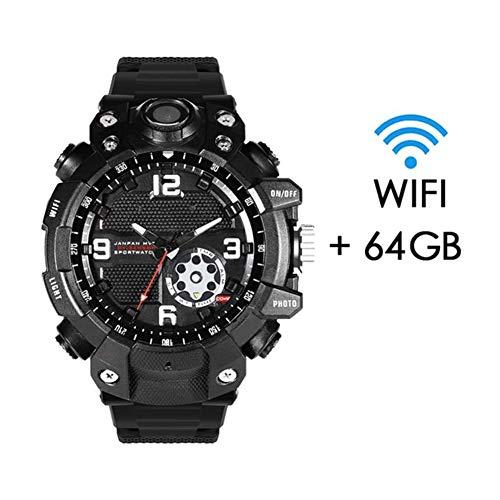 YINGZU WiFi Smart Watch 1080P Videocamera Multifunzione HD Full HD IPX7 Videocamera di Sicurezza Domestica Impermeabile Videocamera Registrazione Adatta per Uomo, Donna e Bambino,64G