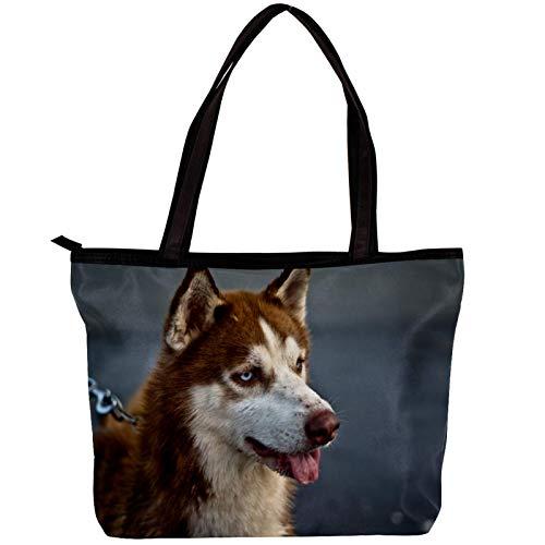 Vockgeng Große Schultertasche aus Segeltuch Heiser Laptop-Einkaufstasche für Frauen Mode Handtaschen Arbeitstasche, Geschenk für Frau/Mutter/Mädchen 30x10.5x39cm