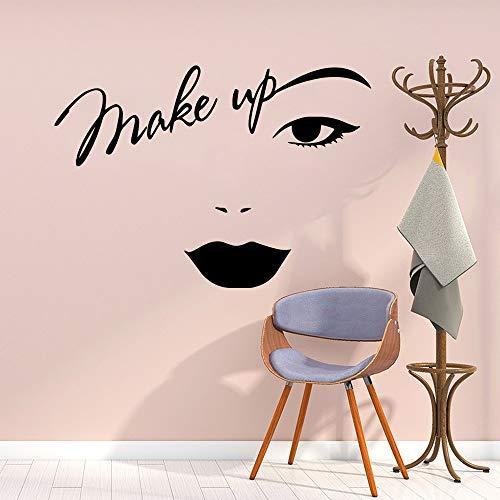 Tianpengyuanshuai make-up muursticker vinyl versierd meisjes slaapkamer schoonheidssalon decoratie afneembare sticker