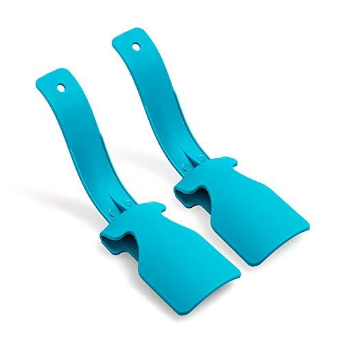 YNGJUENCP 17,5 cm-Schuhe Hebehelfer, Tragbare Schuhe Stiefelhorn, Langstielige Lazy Shoes Helper Für Erwachsene Hilfe Leicht Zu Tragende Schuhe(Color:Blau)