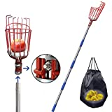 FLY HAWK Fruit Picker, a 13-Foot-Long Fruit Picker Equipped with Optional Splicing of Lightweight Stainless Steel to Pick Apples, Oranges and Fruit Trees (13 Foot)