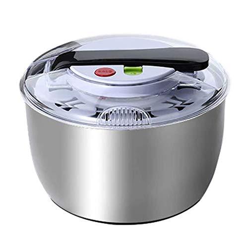 xxz Centrifugadora de Acero Inoxidable, Centrifugadora Manual Lavadora de Verduras, Centrifugadora en seco, Principio de apalancamiento, para porciones de Lechuga, Espinacas, repollo