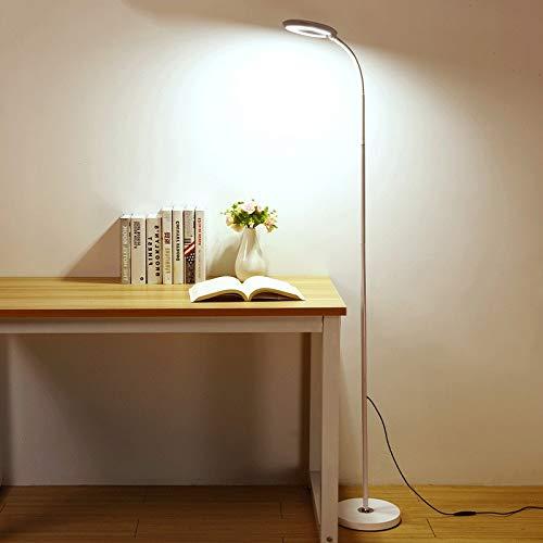 DSM LED Eye Protection Stehleuchte Wohnzimmerstudium Studie Arbeitsschreibtischlampe 160cm (Color : White Touch, Size : 10W)