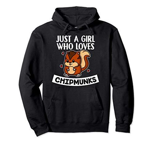 Just A Girl Who Loves Chipmunks Disfraz De Ardilla Sudadera con Capucha