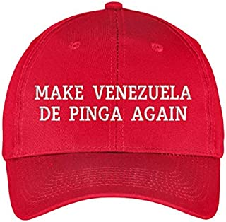 Make Venezuela De Pinga Again Hat Embroidered Baseball Dad Cap Gorra Venezuela Hat Resistencia Vinotinto Libertad MAGA HAT