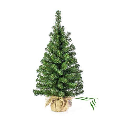 Artplants.de Pequeño árbol Navidad Artificial VARSOVIA