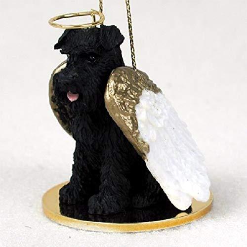 Schnauzer Angel Dog Ornament - Uncropped - Black