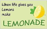 人生がレモンにレモネードを作るときのヴィンテージメタルティンサイン。 バークラブカフェファームの家の装飾アートポスター用