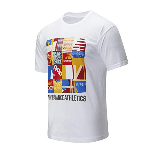 New Balance Athletic Kenji MT01523WT - Camiseta blanca para hombre