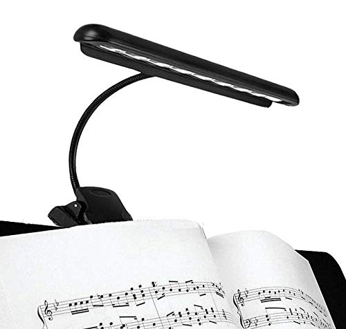 Hellion Portable Flexibele 9 leds Orchestra Piano Music Stand Light, Clip-On Night Reading lamp, clips op bureau, laptop, boeken, hoofdeinde, USB of batterij aangedreven (USB-kabel inbegrepen)