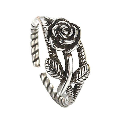 GYJUN Bague Fashion / réglable Daily / Casual bijoux argentée / Sterling argentée femmes / hommes , silver