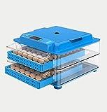 ZYXF Incubadora Inteligentes de Huevos 128 Pantalla LED Incubadora Automática con Control de Temperatura Volteo Automático de La Bandeja de Huevos Doble Utilizada para Huevos de Pollo,Pato,Ganso