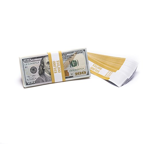 Barred ABA $10,000 Currency Band Bundles (500 Bands)