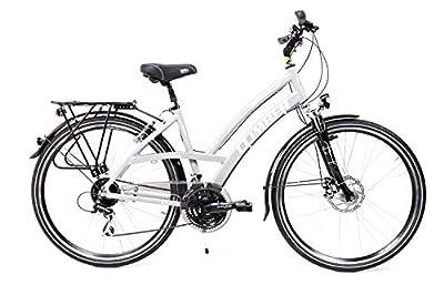 Sprick 28 Zoll Alu Damen Trekking Fahrrad Shimano 24Gang Disc Nabendynamo Trekkingbike