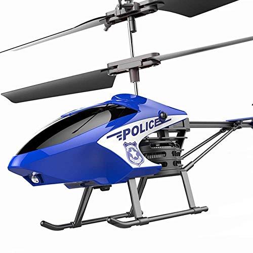 YQTXDS Helicóptero de control remoto de aleación anti-caída 2.4Ghz recargable mini RC aviones puede pasar Super Stabl(juguetes RC)