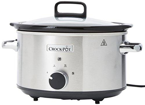 Crock Pot mijoteuse électrique, 3,5L (3-4 personnes), 2 réglages de température et maintien au chaud, Inox [CSC028X]