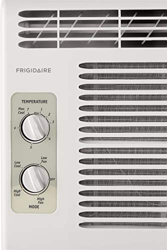 FRIGIDAIRE 5,000 BTU 115V Window-Mounted Mini-Compact Air Conditioner with Mechanical Controls, White