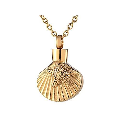 HCMA Colgante de cremación con Forma de Concha Que se Puede Abrir,joyería, Colgante de urna, contenedor de Cenizas, Recuerdo