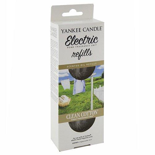 Yankee Candle 1226004E Clean Cotton diffusore Elettrico Doppio Confezione di Ricarica, Multicolore, 4.4x7x17 cm