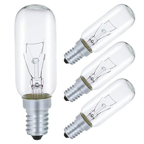 40W Dunstabzugshaubenlampe Lampe, T25 E14 Dunstabzugshaube Glühbirne 2700K Warmweiß, Dimmbar - 4 Stück