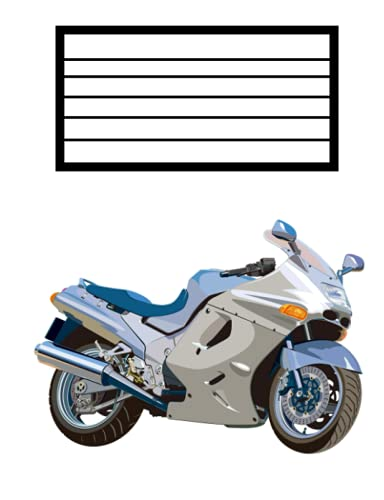 scool notebook with motorcycle