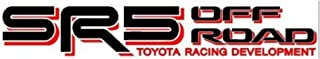 Noa Store Compatible with Toyota TRD Truck Off Road 4x4 Toyota Racing Tacoma Decal Vinyl Sticker Pair of 2 (Red/Black)
