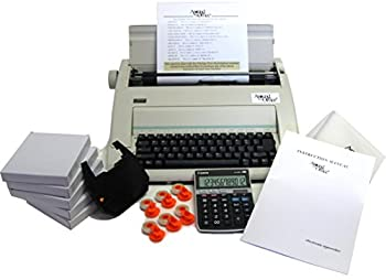 Typewriter & Calculator Small Office Package with Large Dark Printing Dust Cover 6 Ribbons & Correction Tapes.