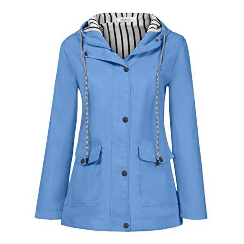 Vectry Capucha Mujer Abrigo Gris Abrigo Azul Marino Chubasquero Mujer Charol Abrigo...