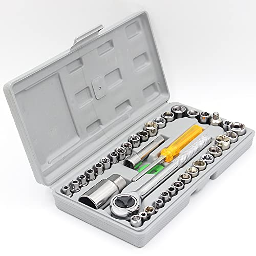jwj Granero kit de hardware Automóvil motocicleta caja de herramientas Set Socket llave manga traje hardware auto reparación de coches herramientas hardware