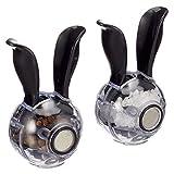Salt and Pepper Grinder Mini Manual Spice Grinder Multifunctional Kitchen Tools Black Rabbit Ears Design Abrader