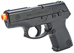 POWERFUL SPRING: 180 FPS with 6mm ammo READY TO PLAY: Shoots 6mm ammo in a single shot REPLICA: made with high strength ABS polymer for a realistic feel. Weighs 0.5lbs EASY TO LOAD: Magazine holds 20 rounds FEATURES: compact design and slide serratio...