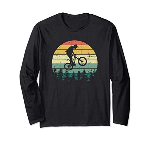 Vintage Retro Mountain Bike MTB Downhill Biking Maglia a Manica