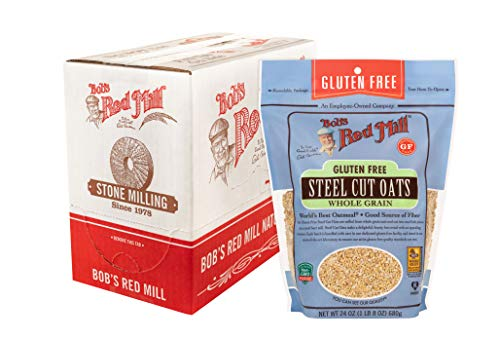 Bob's Red Mill Gluten Free Steel Cut Oats, 24 Ounce (Pack of 4)