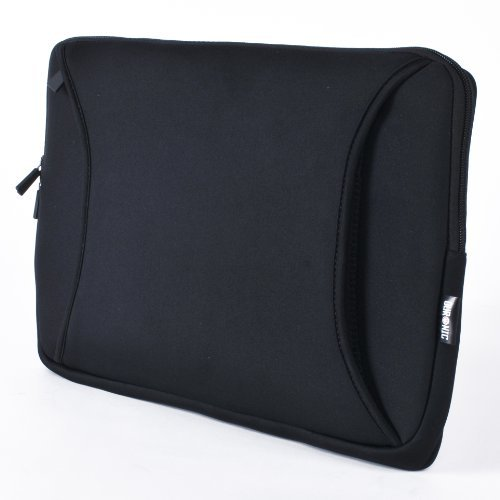 Duronic LS06 Hochwertige Laptoptasche 17 Zoll/Schwarz/Wasserresistent/Hülle für Notebooks bis zu 17 Zoll