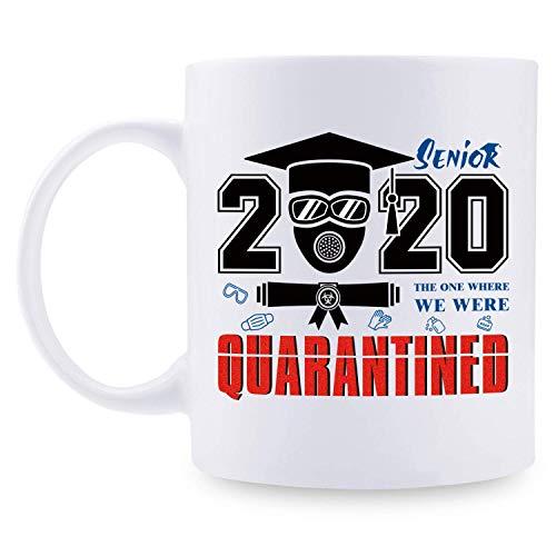 Regalos de graduación 2020 para graduados: regalos de graduación universitaria para él o ella, regalos de graduación de la escuela secundaria, taza de café de 11 oz para graduados, escuela secundaria,